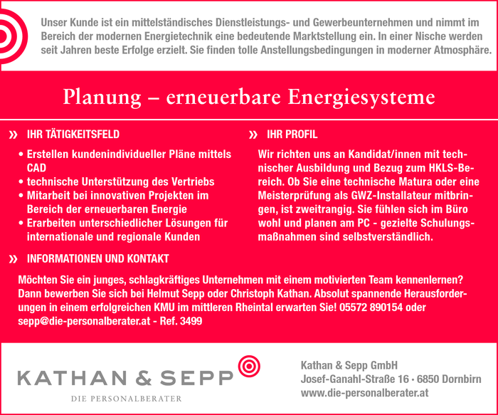 Planung - erneuerbare Energiesysteme