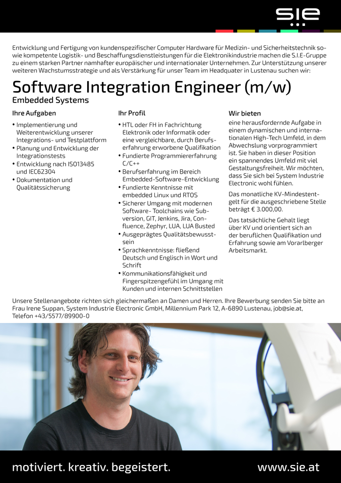 Software Integration Engineer Embedded Systems (m/w)