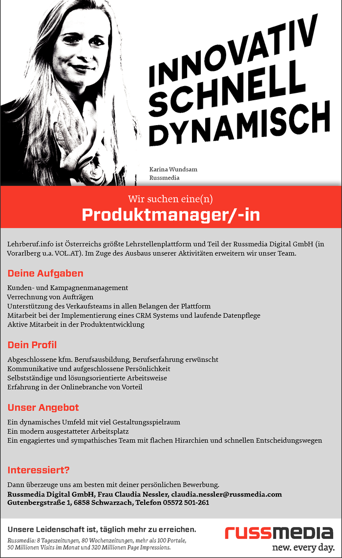 Produktmanager/-in