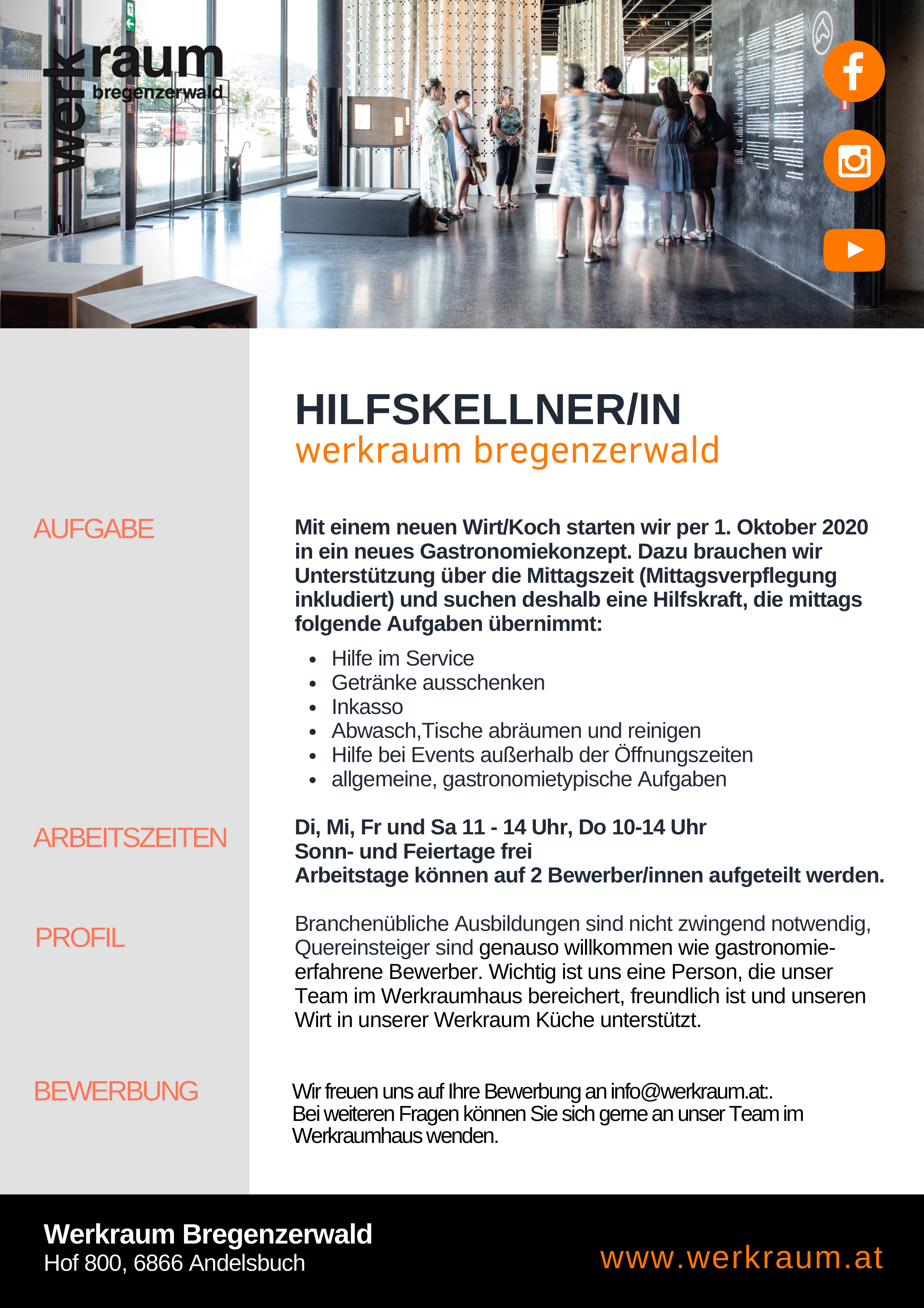 Hilfskellner/In