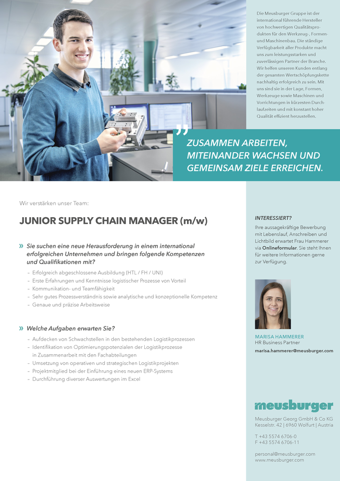 Junior Supply Chain Manager (m/w)