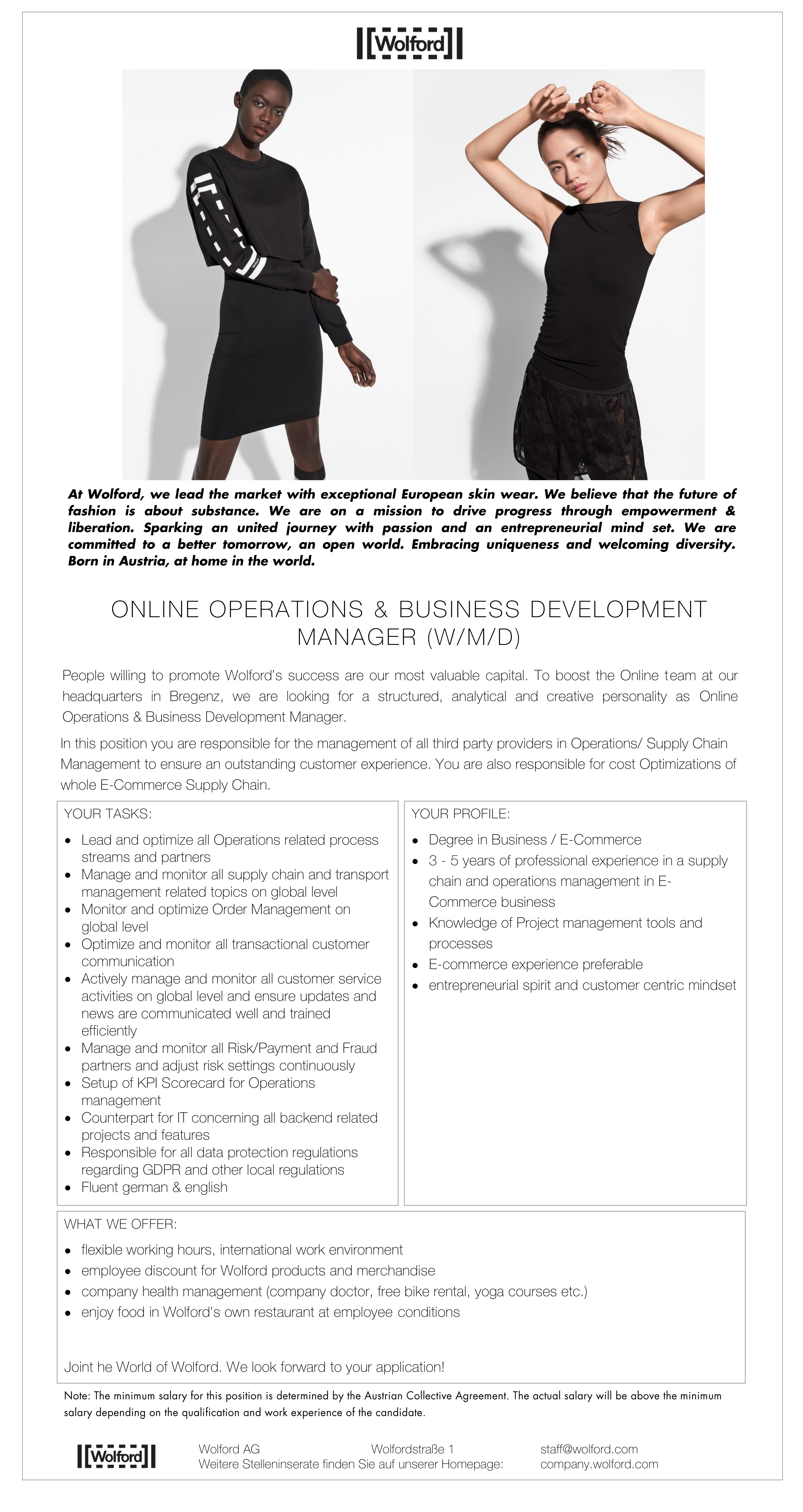 Online Operations & Business Development Manager (w/m/d)