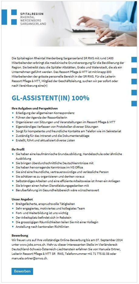 GL-Assistent(in) 100%