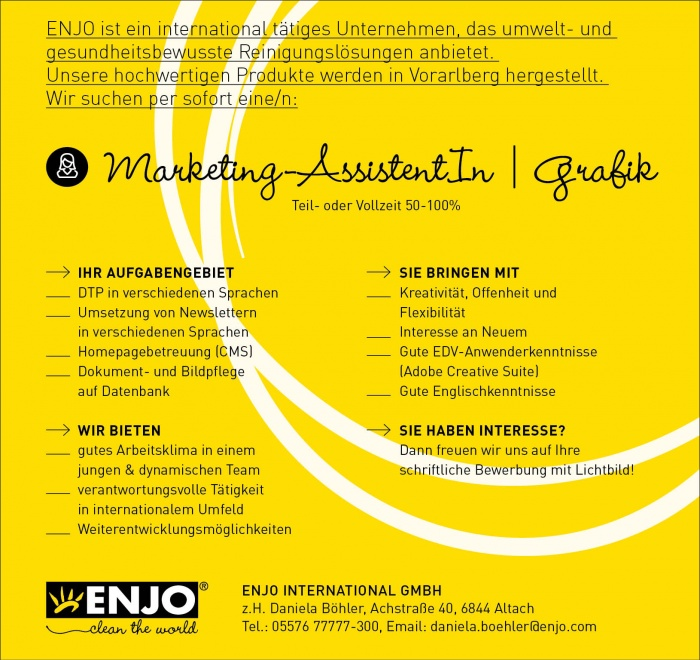 Marketing-AssistentIn / Grafik