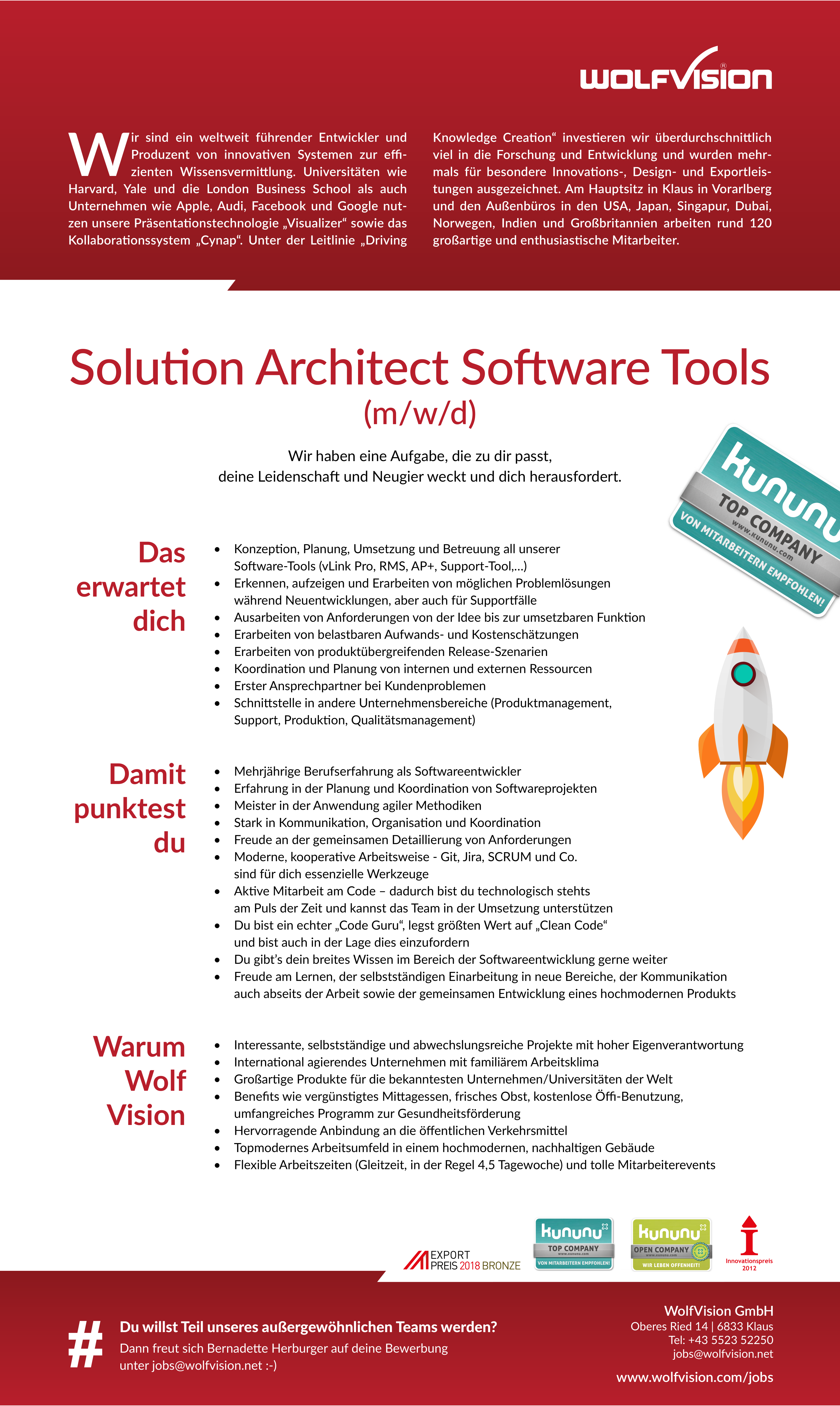 Solution Archtitect Software Tools (m/w/d)