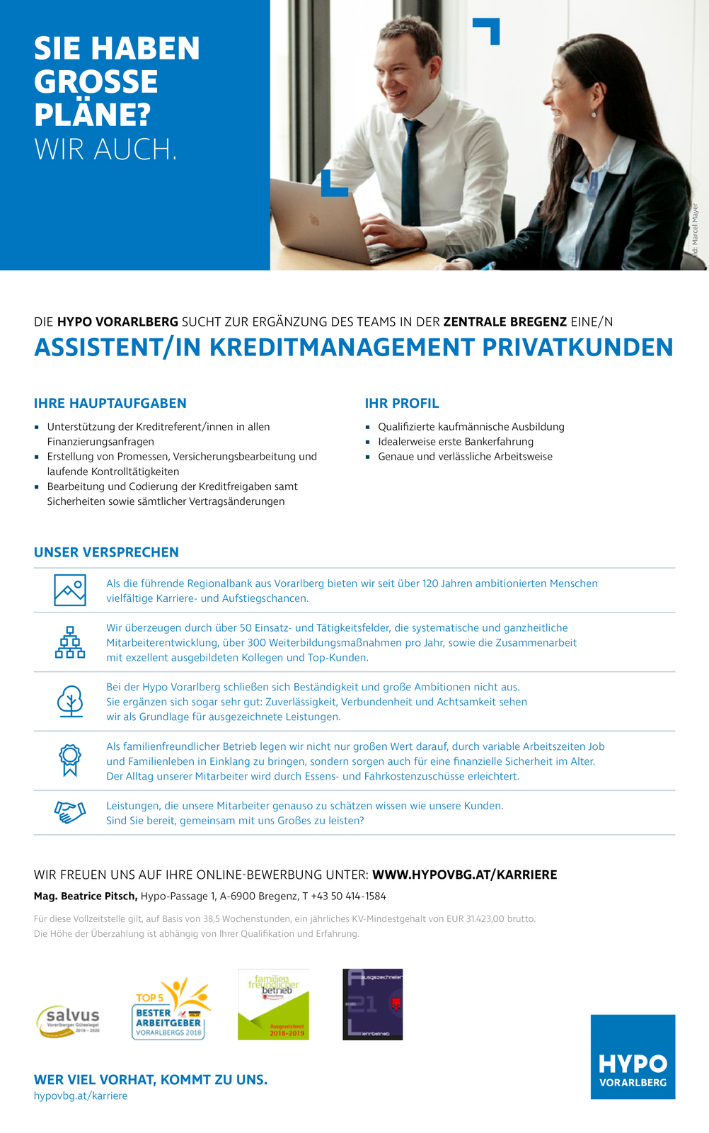 ASSISTENT/IN KREDITMANAGEMENT PRIVATKUNDEN