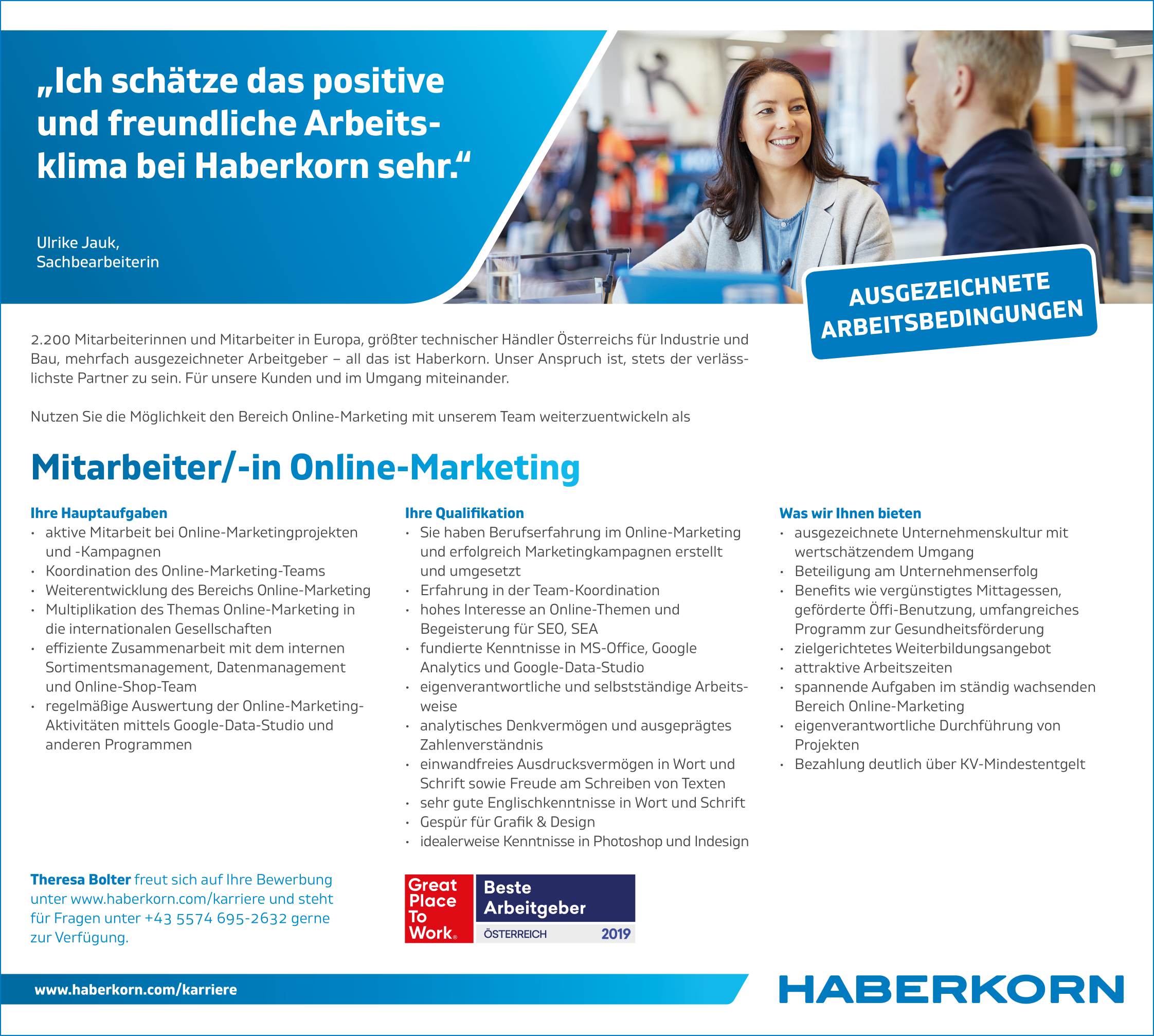 Mitarbeiter/in Online-Marketing