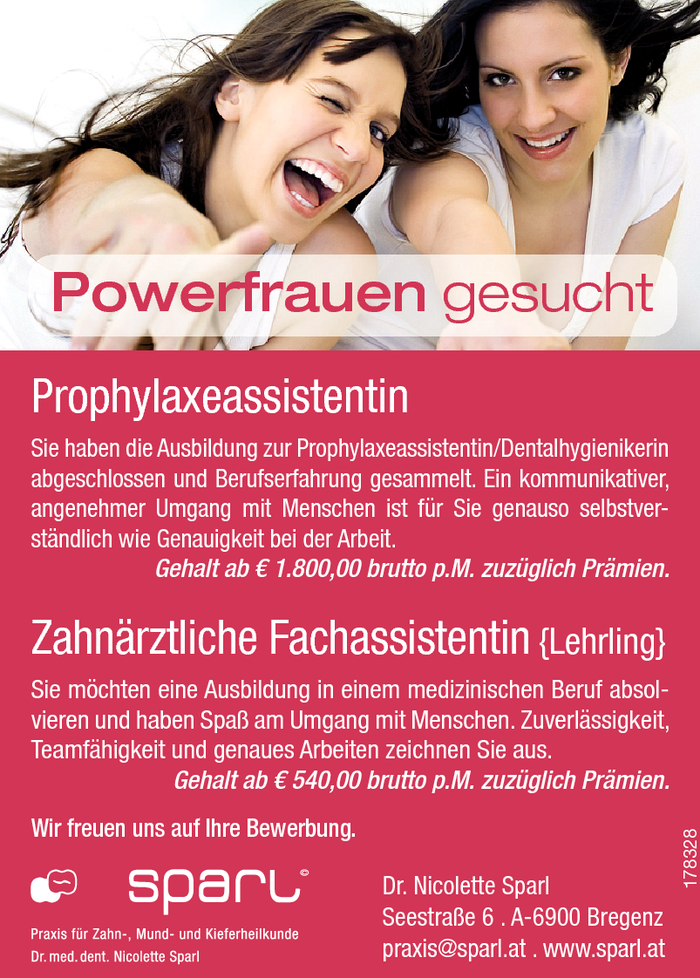 prophylaxeassistentin-lehrling-fachassistentin