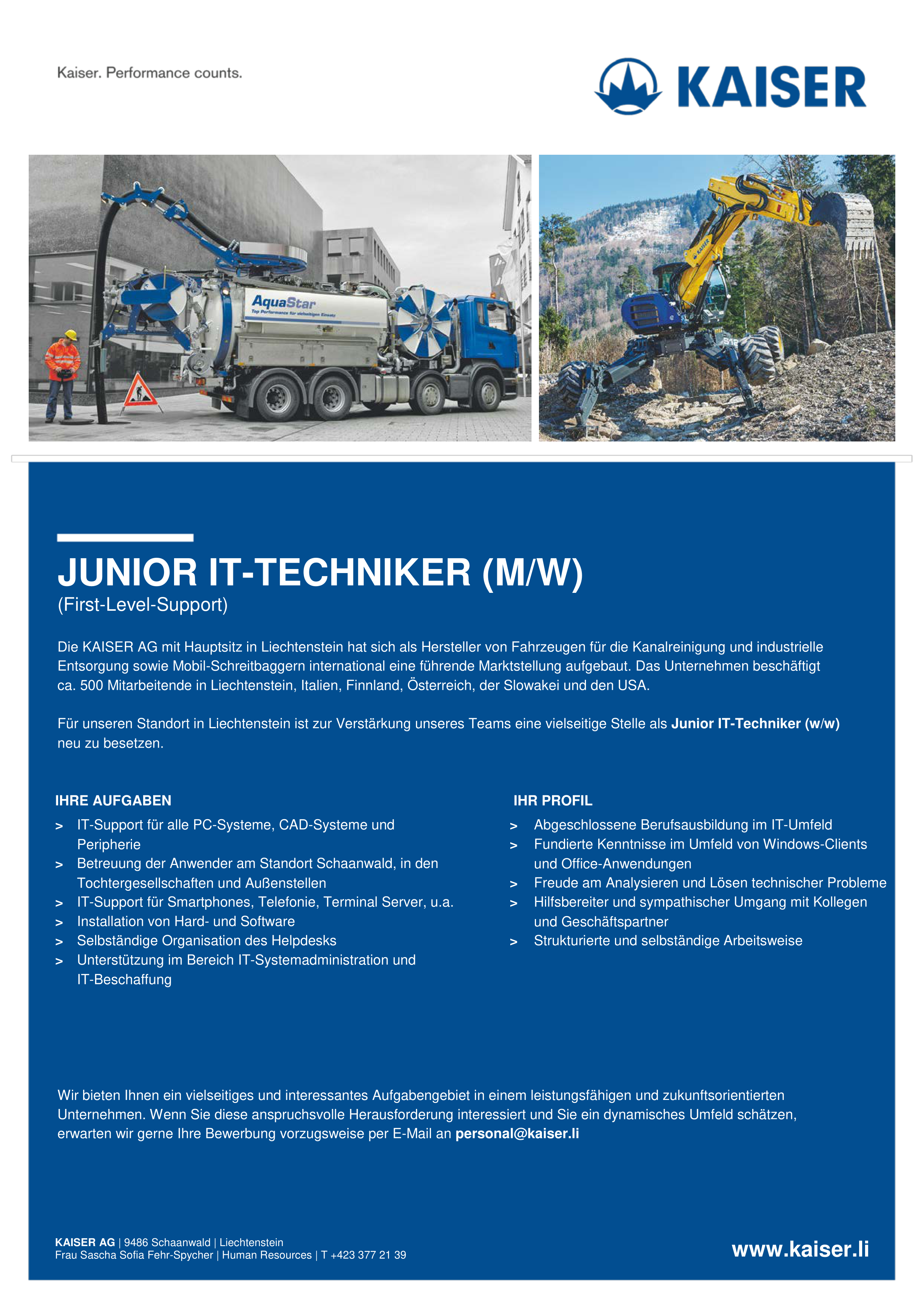 JUNIOR IT-TECHNIKER (M/W)
