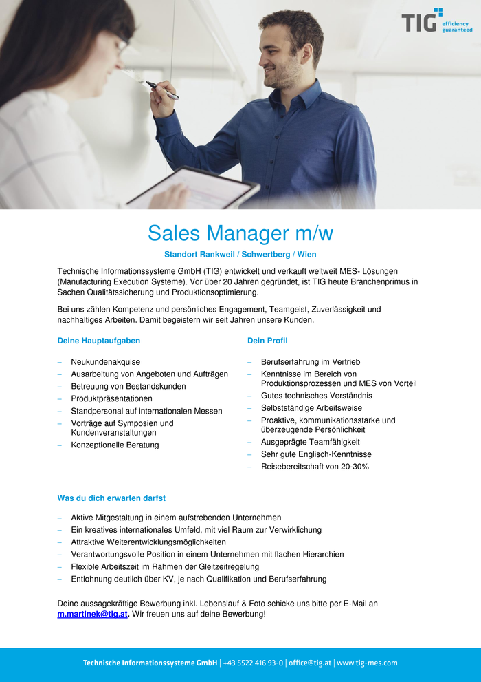 Sales Manager (m/w)