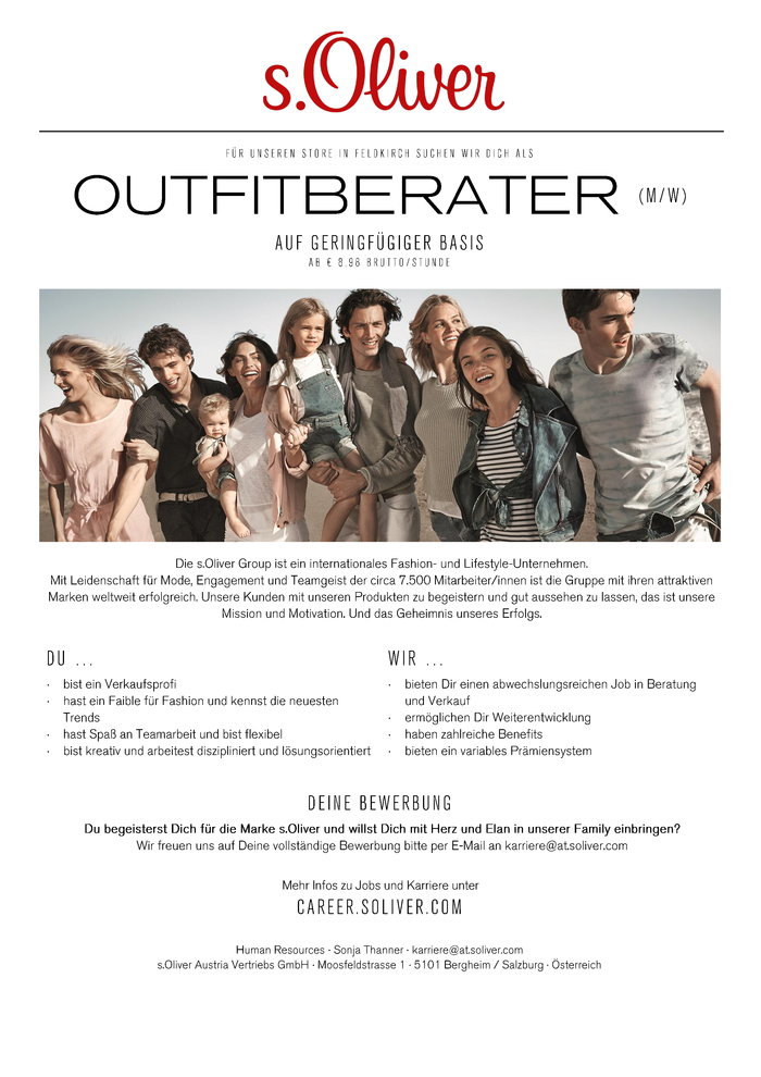 Outfitberater (m/w) auf geringfügiger Basis