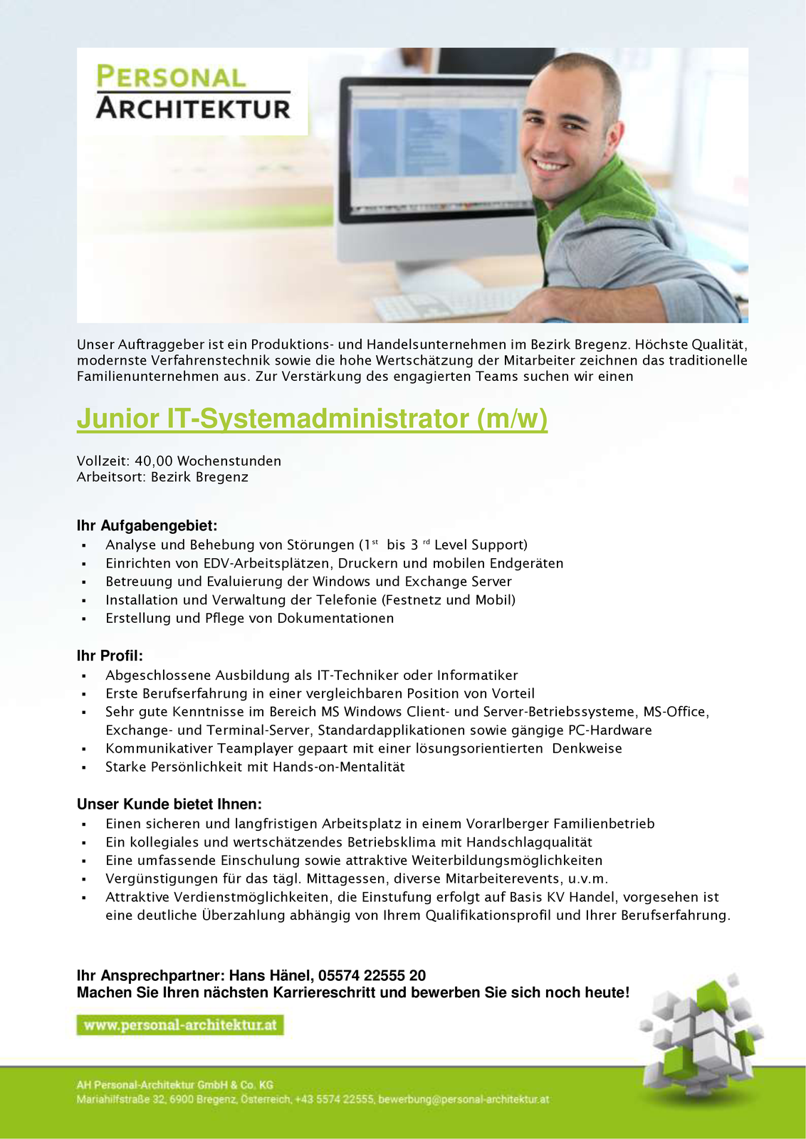 Junior IT-Systemadministrator m/w