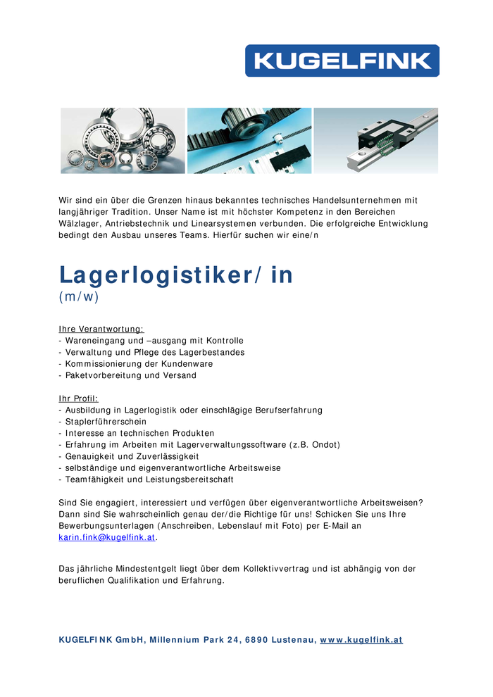 Lager Logistiker (m/w)