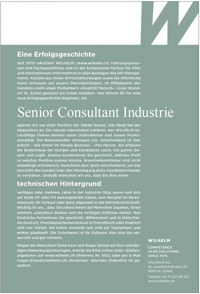 Senior Consultant Industrie