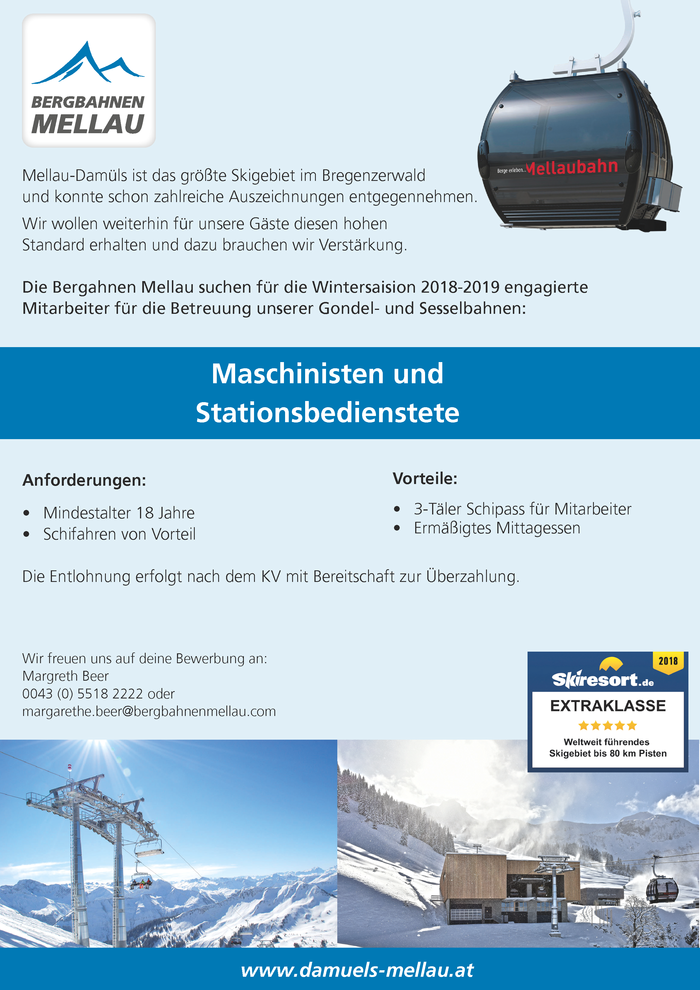 Maschinisten und Stationsbedienstete (m/w)