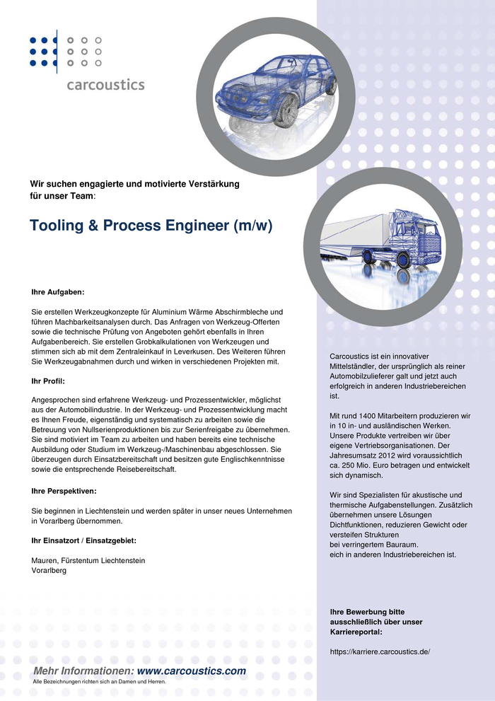 Tooling & Process Engineer
