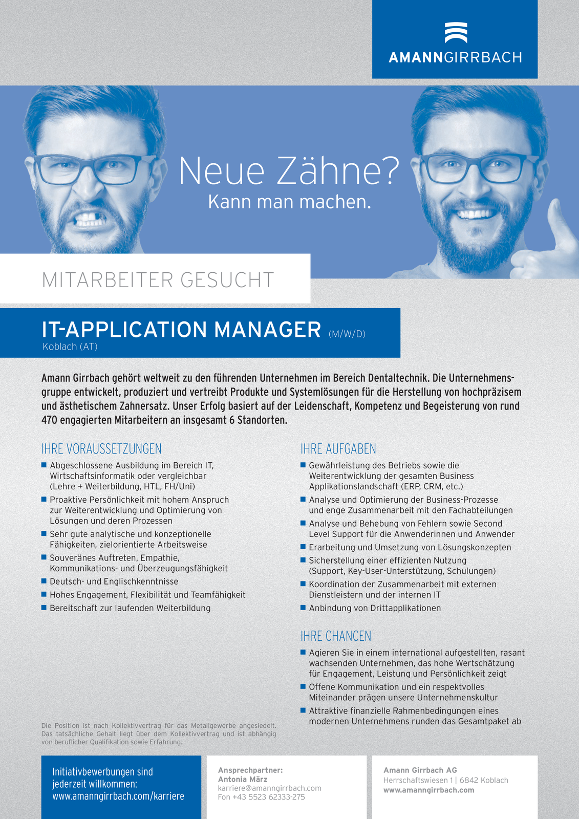 IT-APPLICATION MANAGER (m/w/d)