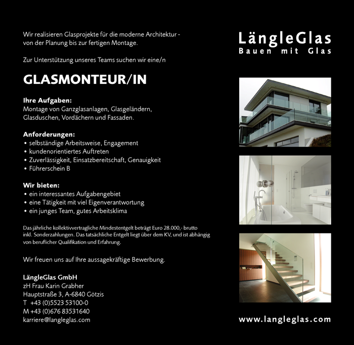Glasmonteur/in