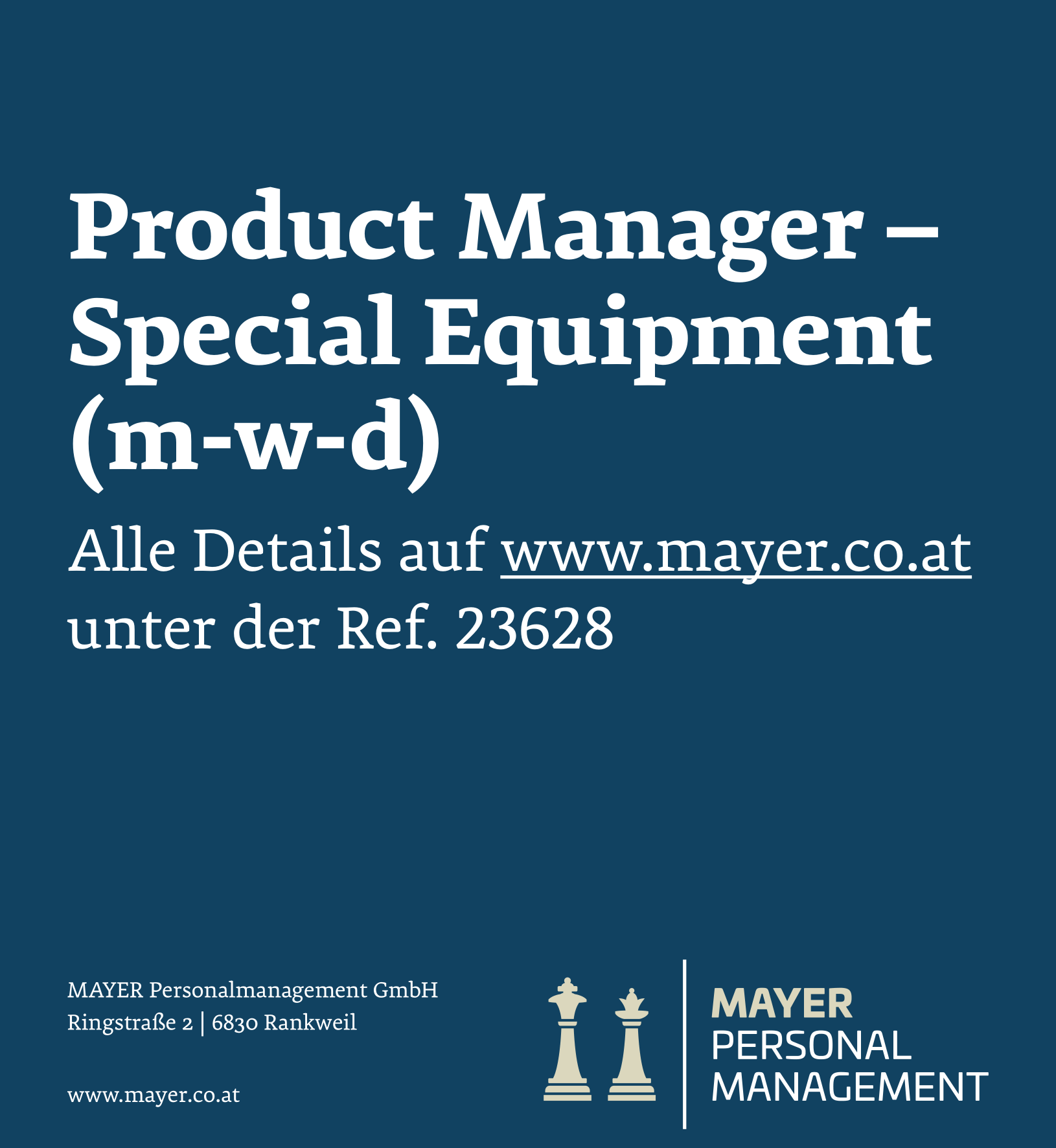 Product Manager - Special Equipment (m-w-d)