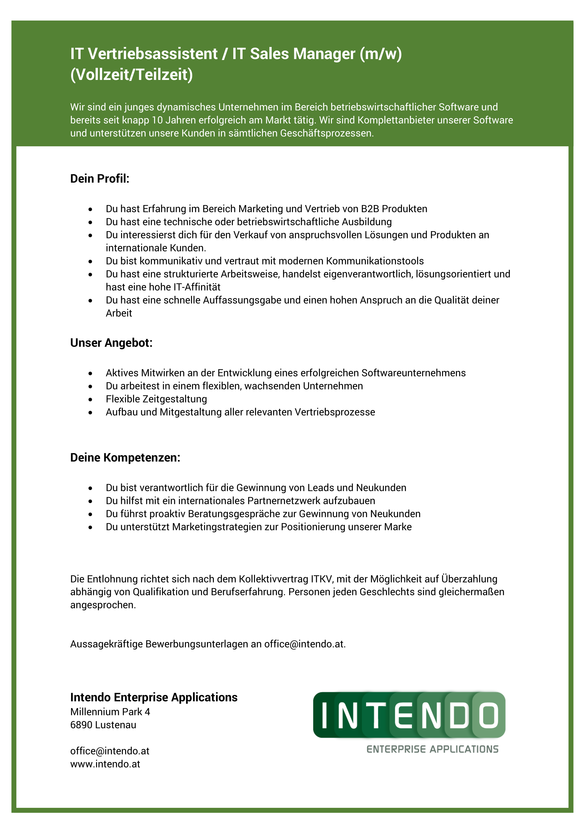 IT Vertriebsassistent / IT Sales Manager (m/w)
