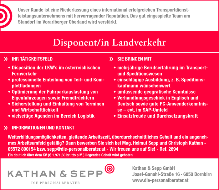 Disponent/in Landverkehr