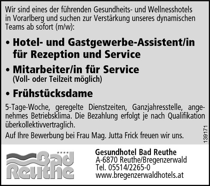 Gastgewerbe assistent in service fr hst cksdame for Koch gehalt netto