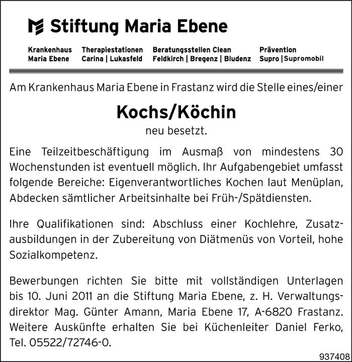 Koch k chin feldkirch walgau jobs in vorarlberg for Koch gehalt netto