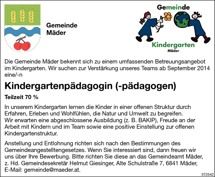 kindergartenpadagogin