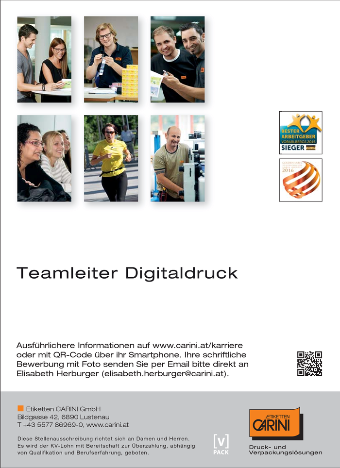 Teamleiter Digitaldruck (w/m)