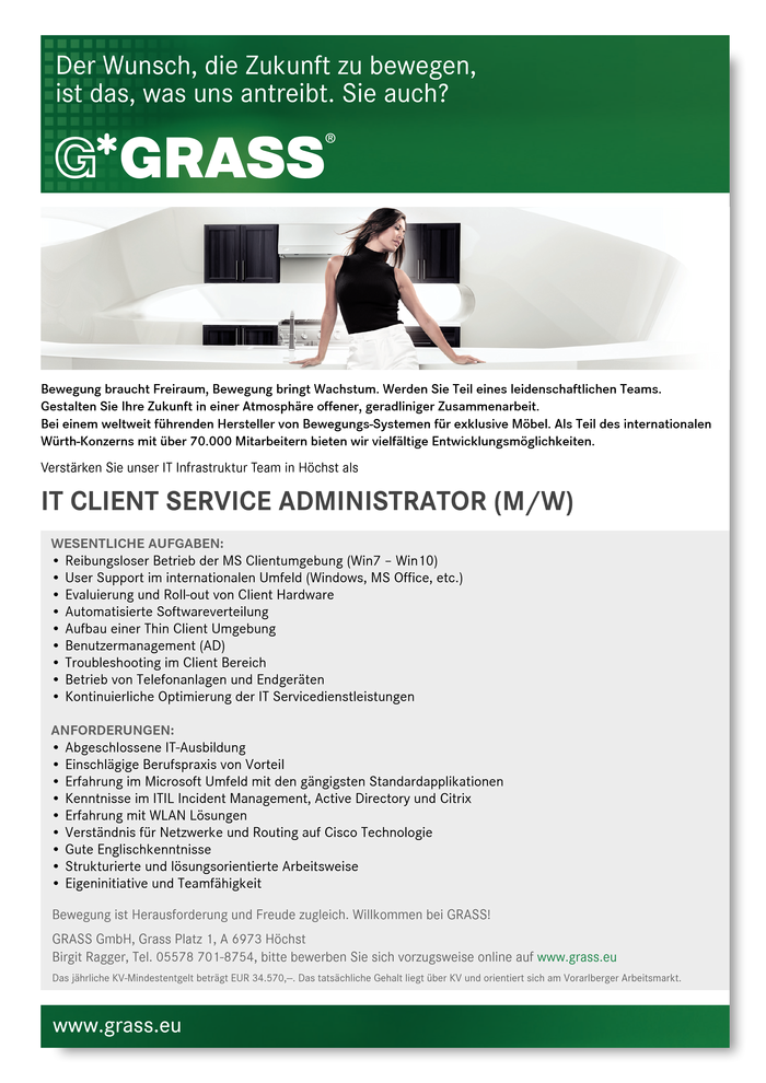 IT Client Service Administrator (m/w)