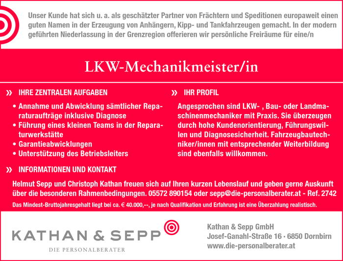 LKW-Mechanikmeister/in