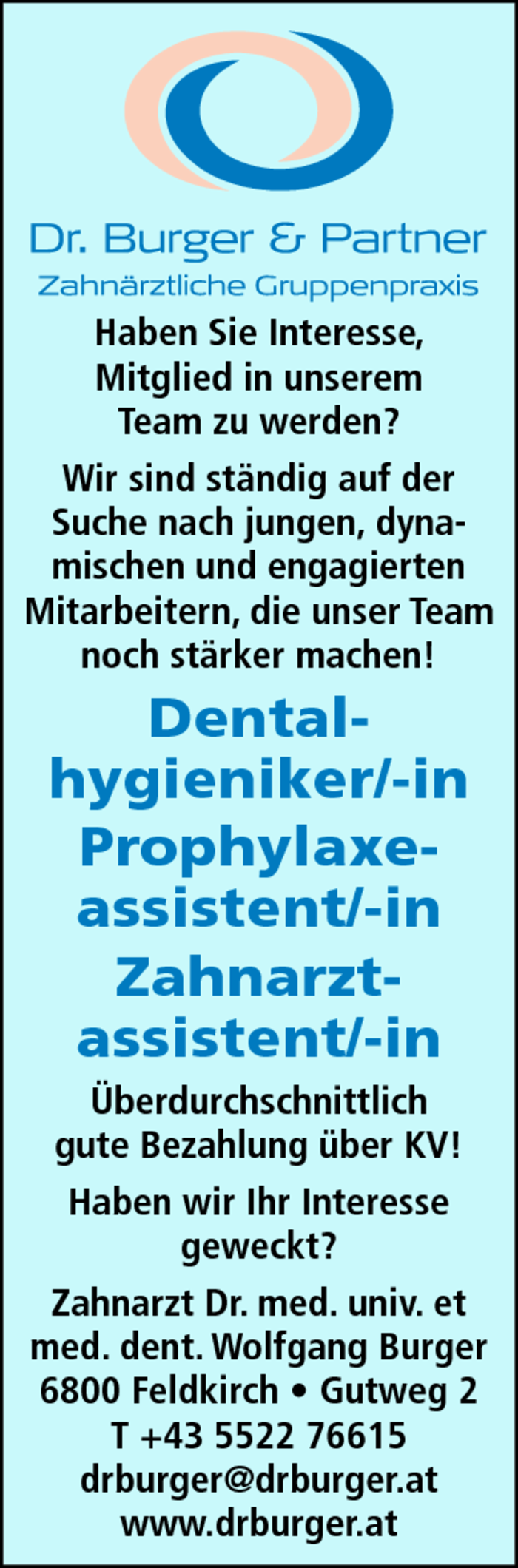 Dentalhygieniker/-in, Prophylaxeassistent/-in, Zahnarztassistent/-in