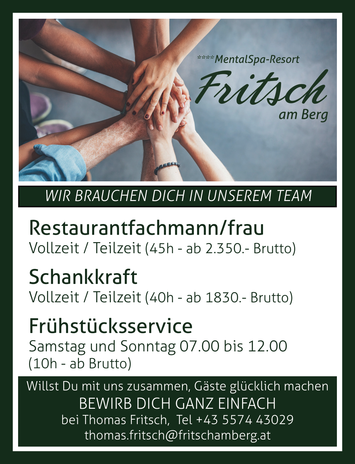 Restaurantfachfrau/ mann, Kellner/in