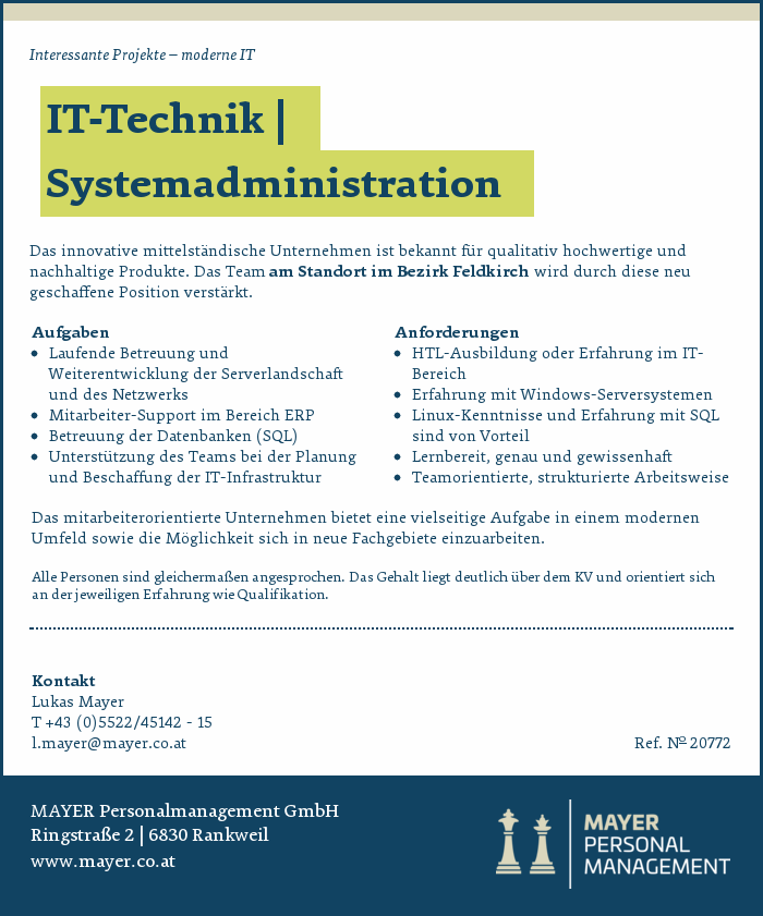 IT-Technik | Systemadministration