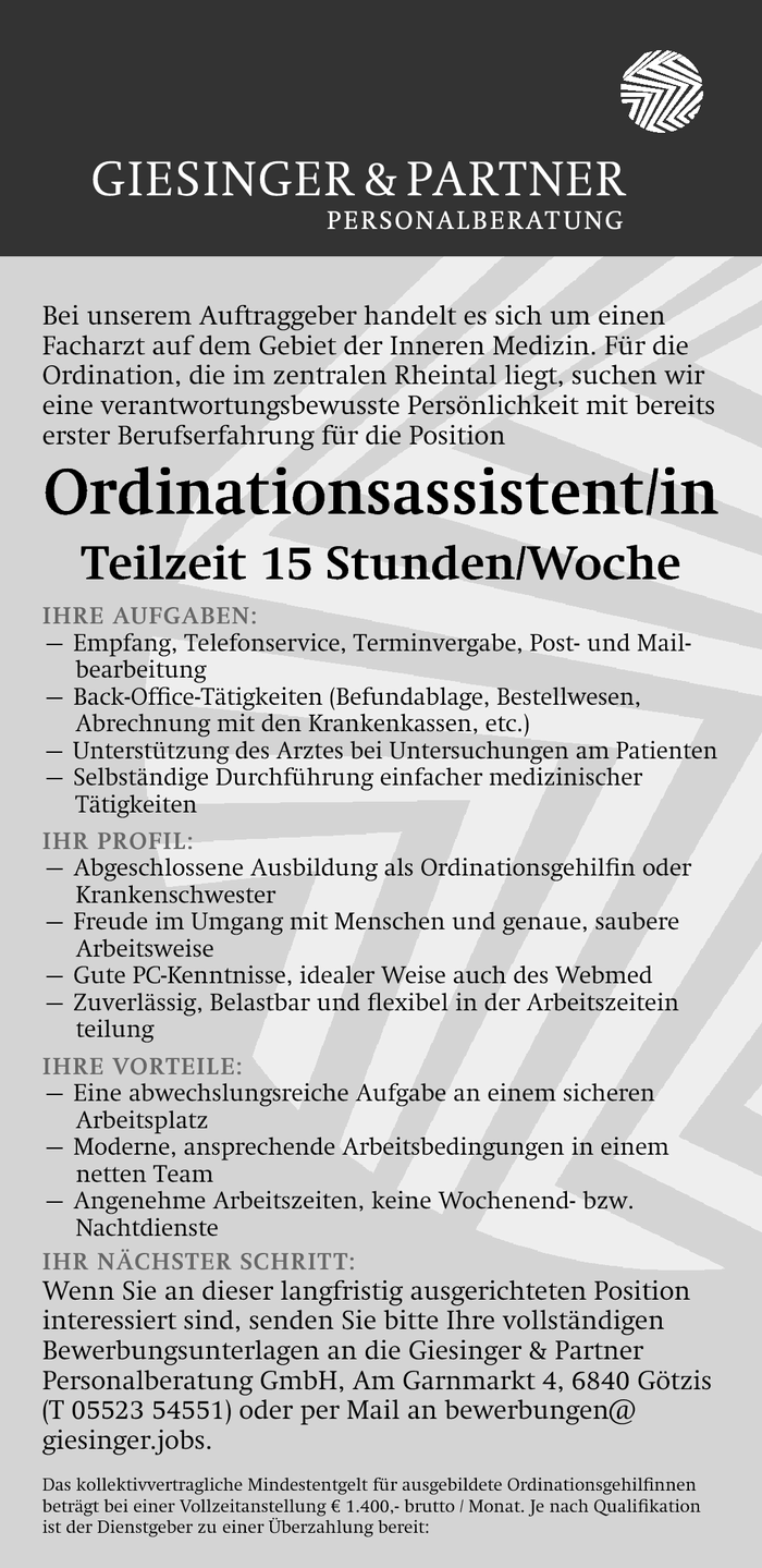 ordinationsassistentin