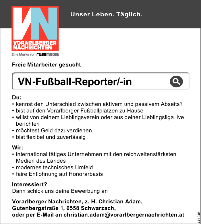 VN-Fußball-Reporter/-in