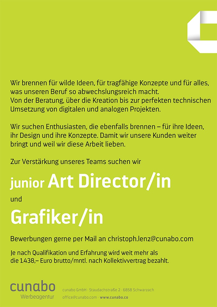 Grafiker und junior Art Director