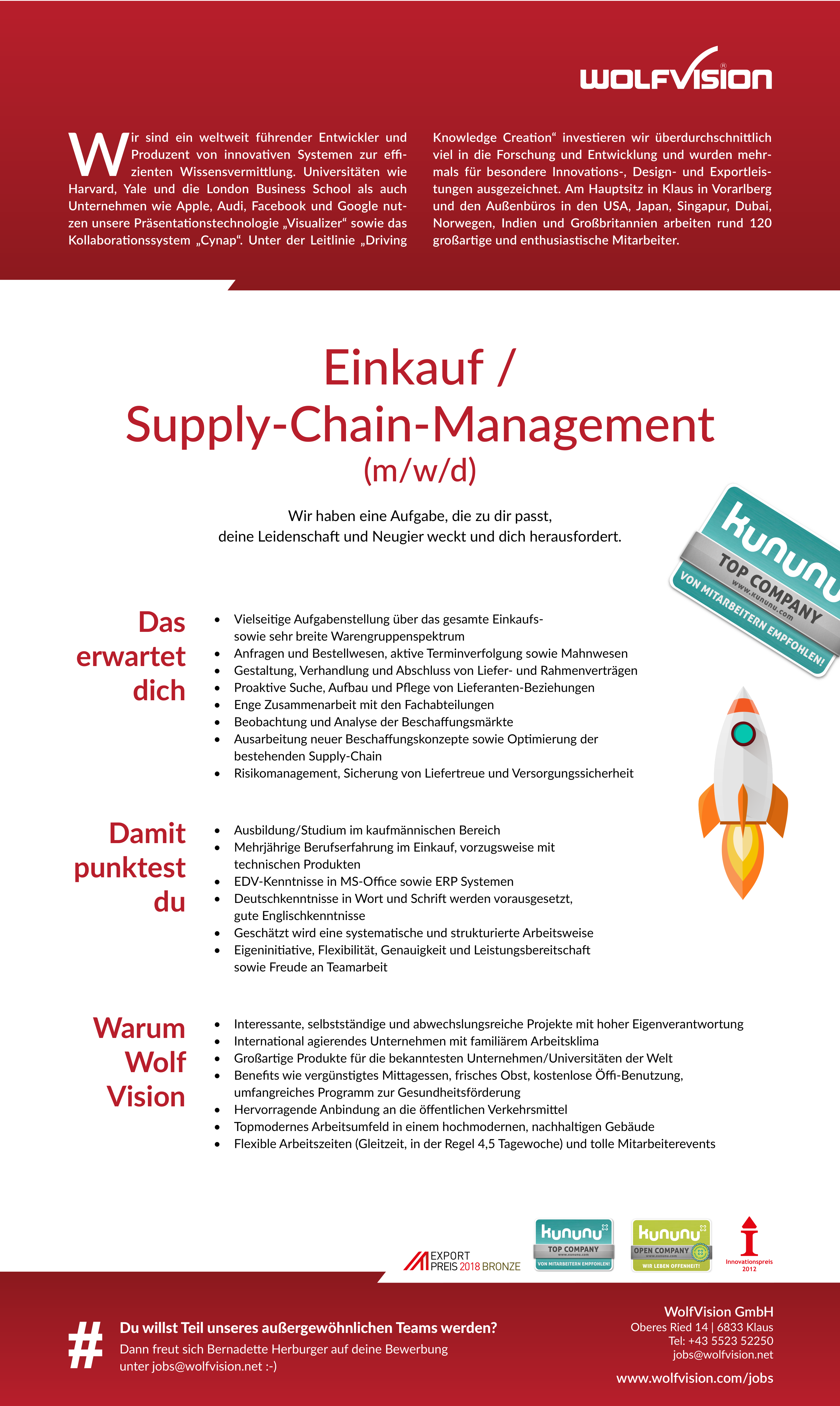 Einkauf / Supply-Chain-Management (m/w/d)