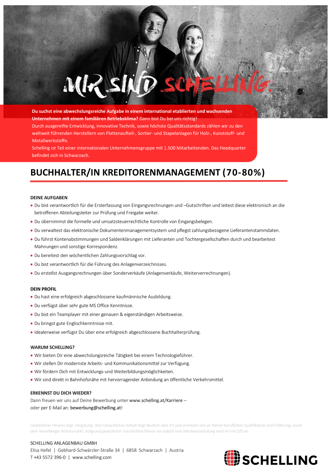 Buchhalter/In Kreditorenmanagement (70-80%)