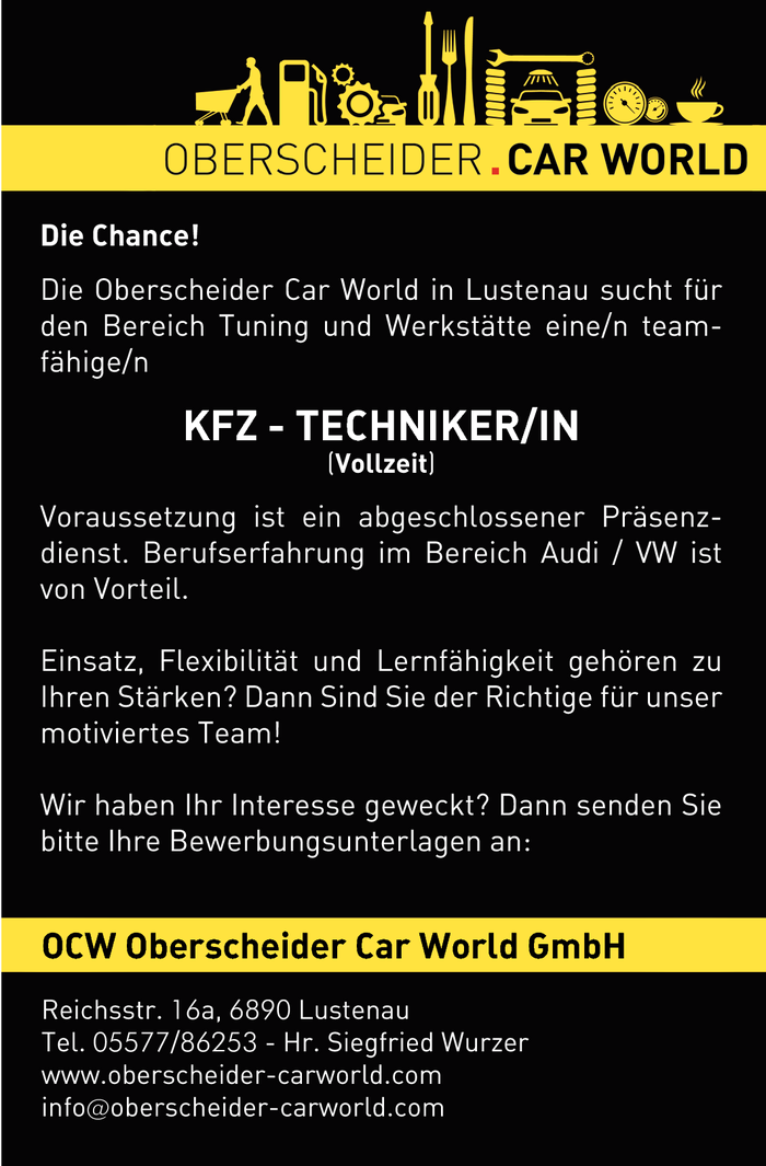 KFZ Techniker/in