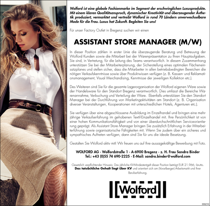 Assistant Store Manager/in