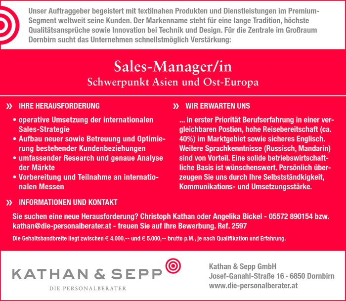 Sales-Manager/in