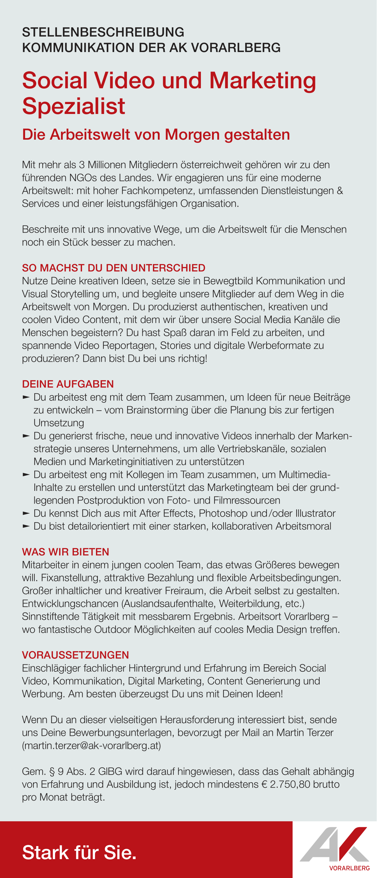 Social Video und Marketing Spezialist (m/w/d)