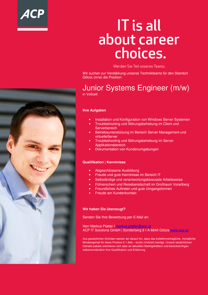 Junior Systems Engineer (m/w)