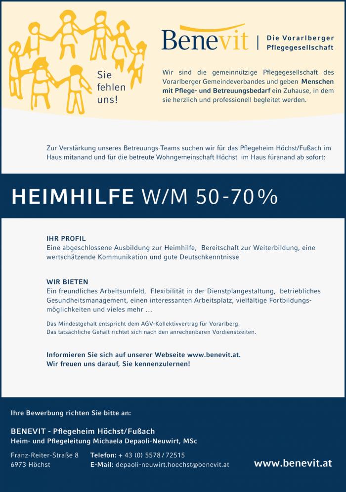 Heimhilfe Bezirk Bregenz Jobs In Vorarlberg