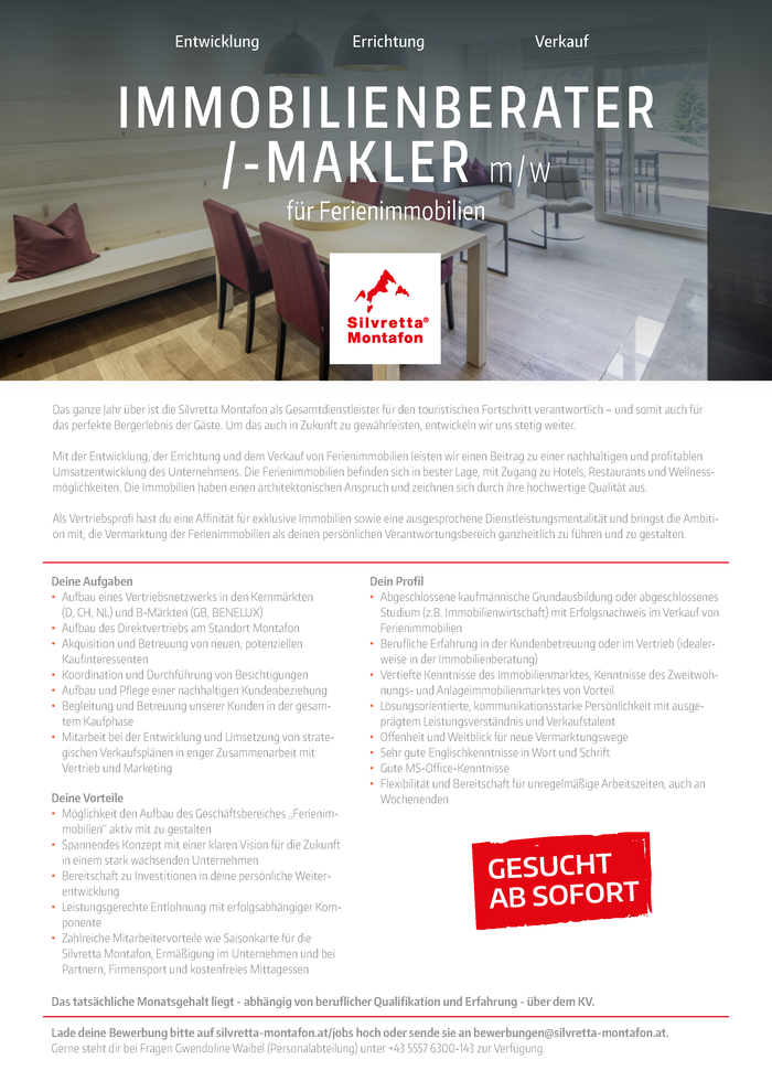 Immobilienberater/ -makler m/w
