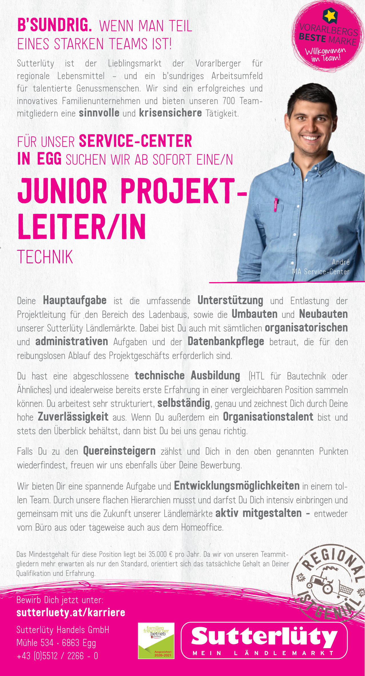 Junior Projektleiter/in Technik