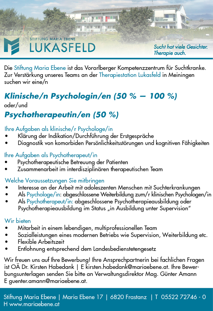 Psychologe/in, Psychotherapeut/in