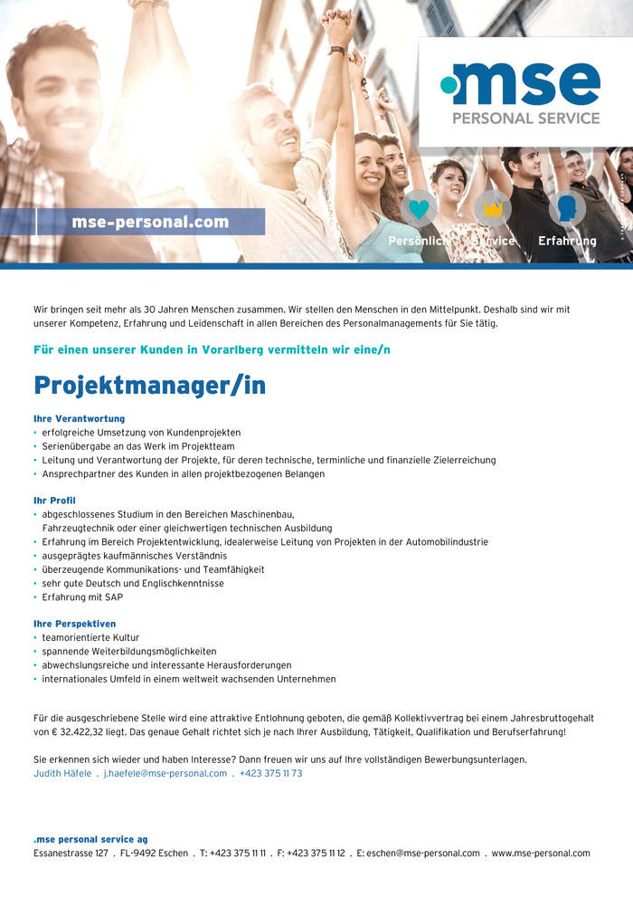 Projektmanager/in