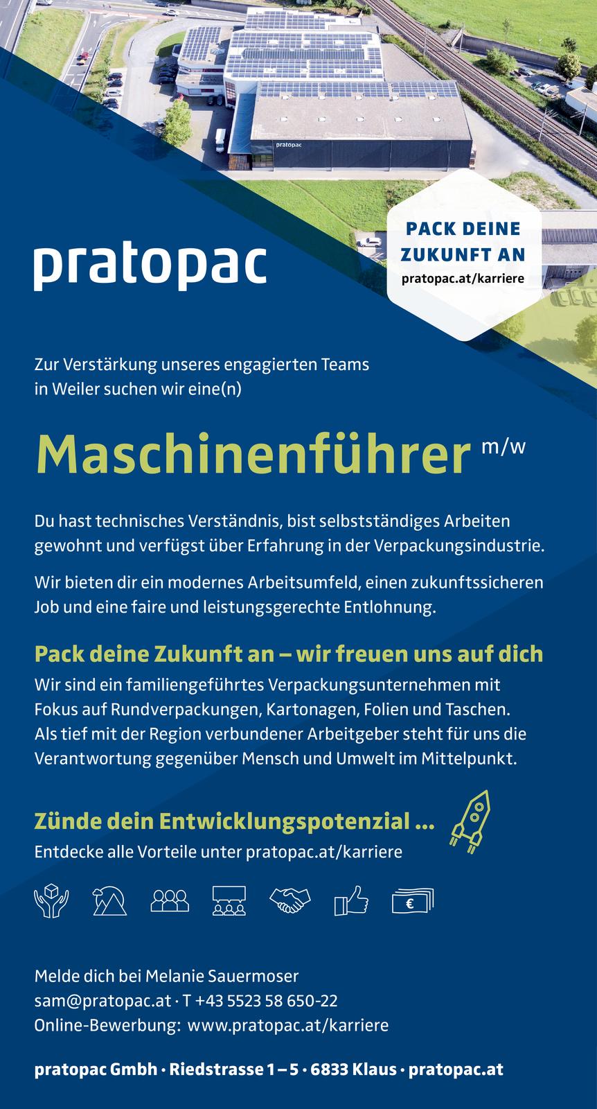Maschinenführer Mw Vorarlberg Jobs In Vorarlberg